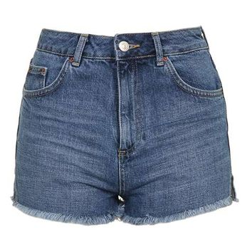 MOTO Raw Hem Mom Short