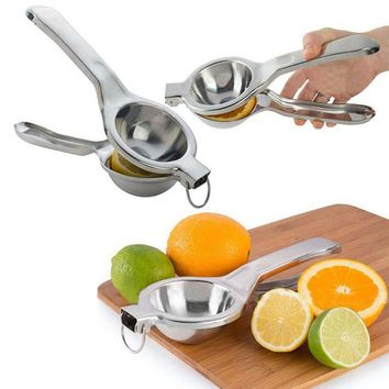 Large Manual Lemon Squeezer Juicer Fruit Orange Citrus Lime Lemon Stainless Steel Clip