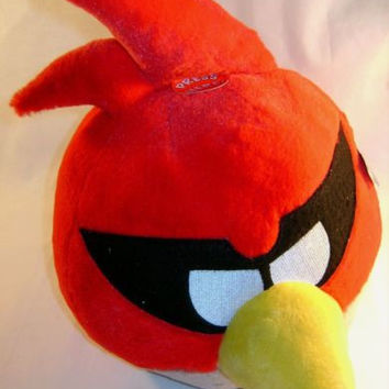 "Angry Bird Space Plush Super Red 12"" Sound Rovio Entertainment Licensed Toy Doll"