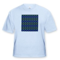 Fuzzy Blanket 2 Tribal Retro Geometric Abstract Pattern Textile - Toddler Light-Blue-T-Shirt (2T)