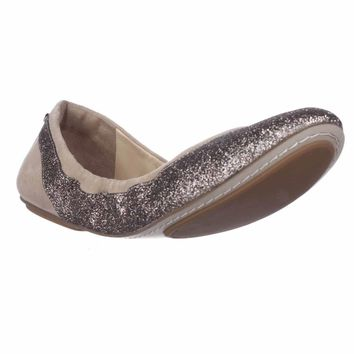 Cole Haan Avery Scrunch Ballet Flats, Maple Sugar Glitter, 7.5 US