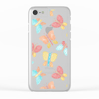 Summery Butterflies Clear iPhone Case by Noonday Design