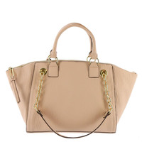 Jessica Simpson Womens Eve Faux Leather Convertible Satchel Handbag