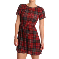 Ark for Women Ark Tartan Lotti Skater Dress