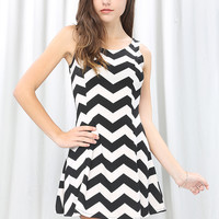 Zigzag Flare Dress