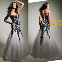 Hot Lace Up Mermaid Sexy Evening Party Prom Dress Pageant Bridesmaid Dresses