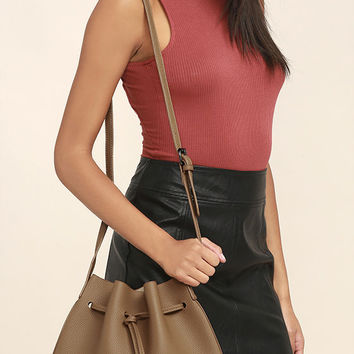 Ride West Tan Bucket Bag