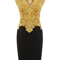 Bqueen Beautiful Cotton Lace Pencil Dress K387Y