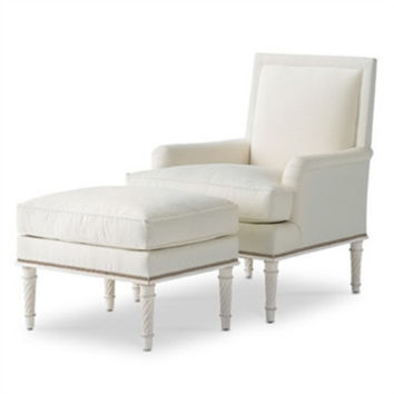 Azure Chair & Ottoman by Bunny Williams