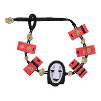 Studio Ghibli Spirited Away No-Face Lace Crochet Bracelet