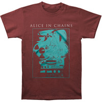 Alice In Chains Men's  Reel To Reel T-shirt Red