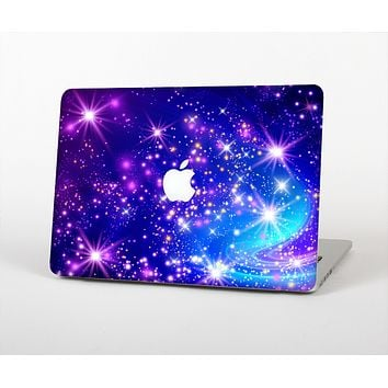 The Glowing Pink & Blue Starry Orbit Skin Set for the Apple MacBook Air 13""
