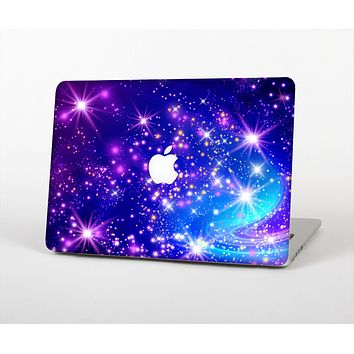 "The Glowing Pink & Blue Starry Orbit Skin Set for the Apple MacBook Pro 13"" with Retina Display"