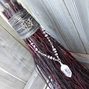 Wedding Broom/Handfasting  Besom Broom, Ritual Besom, CLEARANCE. Witches Broom,. Wiccan Wedding, Wedding tradition, Wedding Ceremony