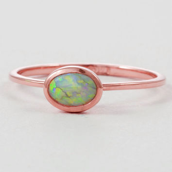 Rose Gold Opal Engagement Ring 14K Rose Gold Opal Engagement Ring Rose Gold Opal Engagement Ring 14K Rose Gold Engagement Ring Opal