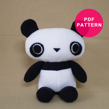 Plush Pattern - Panda Bear Sewing PDF