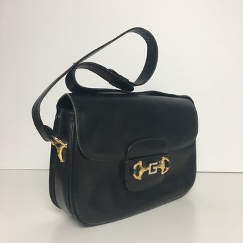Authentic Vintage Gucci black shoulder bag