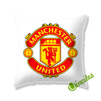 Manchester United Logo Square Pillow Cover