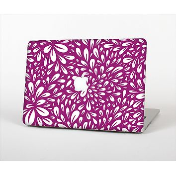 The Purple & White Floral Sprout Skin Set for the Apple MacBook Air 11""