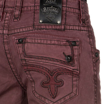 OXBLOOD STRAIGHT TWILL PANT
