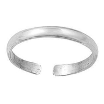 Sterling Silver Plain 2MM  Toe Ring/ Knuckle/ Mid-Finger