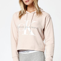 Calvin Klein Cropped Pullover Hoodie at PacSun.com