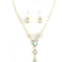Shimmer Stone Drop necklace set - multiple options