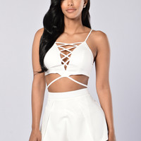 By The Ocean Top - White