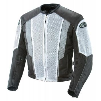 Joe Rocket Phoenix 5.0 Mens White/Black Mesh Motorcycle Jacket