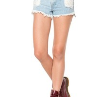 Brandy ♥ Melville | Destroyed High-Waisted Denim Shorts - Bottoms - Clothing
