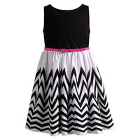 Youngland Belted Chevron Dress - Girls