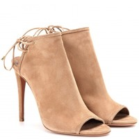 aquazzura - mayfair suede stilettos