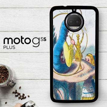 Alice In Wonderland Hookah Caterpillar V1381  Motorola Moto G5S Plus Case