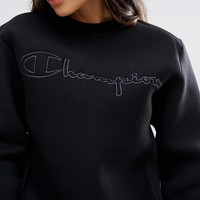 Champion | Champion Oversized Sweatshirt With Shadow Script Embroidery at ASOS