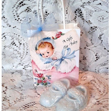Baby Bootie Gift Soap Favors Blue