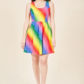 Rainbow Reaction Cotton Dress