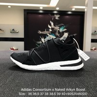 Adidas Consortium x Naked Arkyn Boost Black White Sports Running Shoes - AC7669