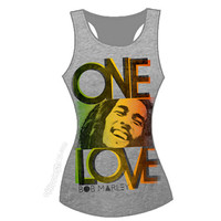 Bob Marley - One Love Smile Tank Top  on Sale for $18.95 at The Hippie Shop