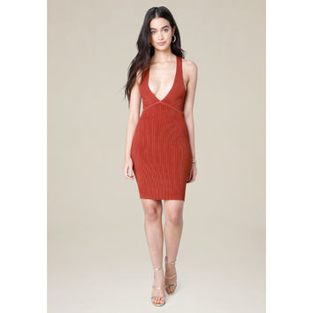RIBBED CROSSBACK DRESS