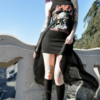 SLAYER fishtail sheer dress