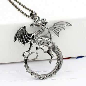 HOMOD Game of Thrones Necklace Targaryen Dragon Song of ice and fire Desolation of Smaug fashion Pendant for Men Women Gift