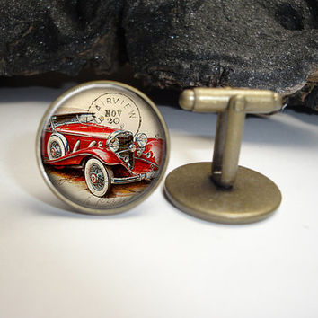 Vintage Old Car Cuff Links 20mm/Old Car Cufflinks for Him/Men Gift