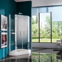 Corner shower cabin with hinged door with tray ALTER Easylife Collection by Samo