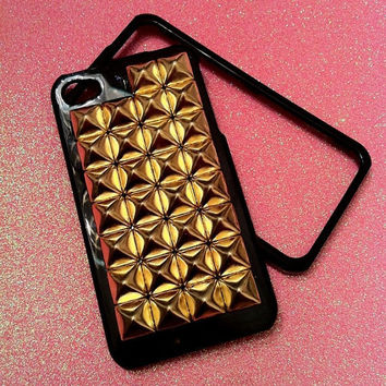 iPhone 4/4s Gold Stud Case by JMxSweets on Etsy