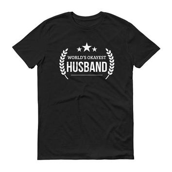 Husband Gift Christmas, Men's World's Okayest Husband t-shirt - unique birthday gifts for husband, anniversary gift, gift for husband