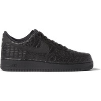 Nike - Air Force 1 LV8 Crocodile-Embossed Leather Sneakers