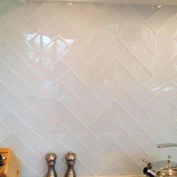 Blanco 2x8 Subway Glass Tile
