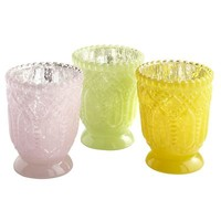 Vintage Pastel Votive Holders
