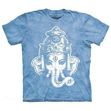 Yoga Clothing for You Mens Big Ganesha Tie Dye Tee Shirt