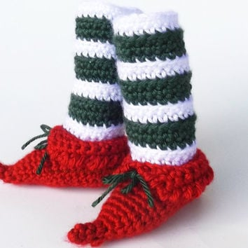 Elf Booties Christmas Shoes